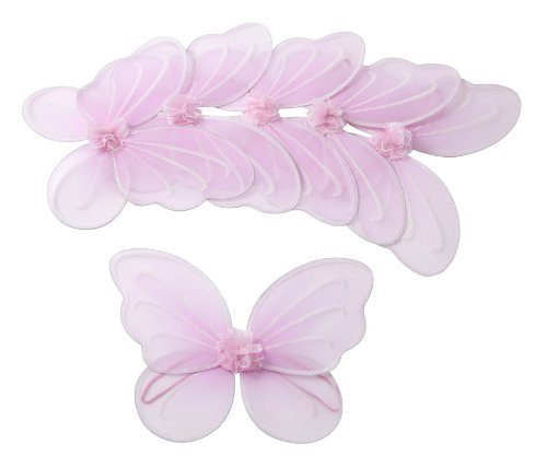 Girls Butterfly, Fairy, and Angel Wings for Kids 6 Pack (Pink)