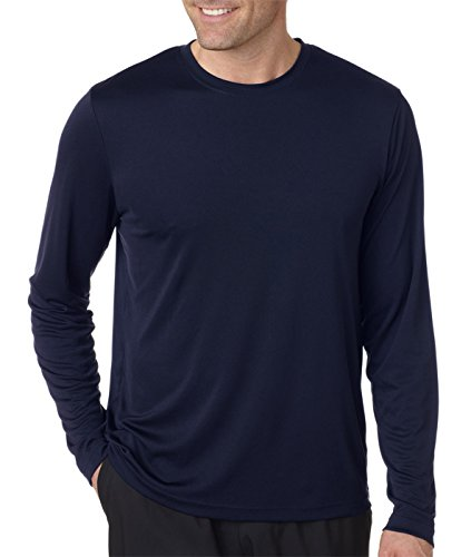 Hanes-mens-Cool-DRI-Performance-Long-Sleeve-T-Shirt-482L-BlackNavy