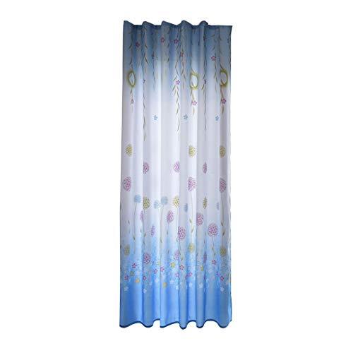 Window Curtain,Fheaven 1Pc Leaves Sheer Curtain Tulle Voile Drape Valance Panel Fabric Treatment Window Curtain ()