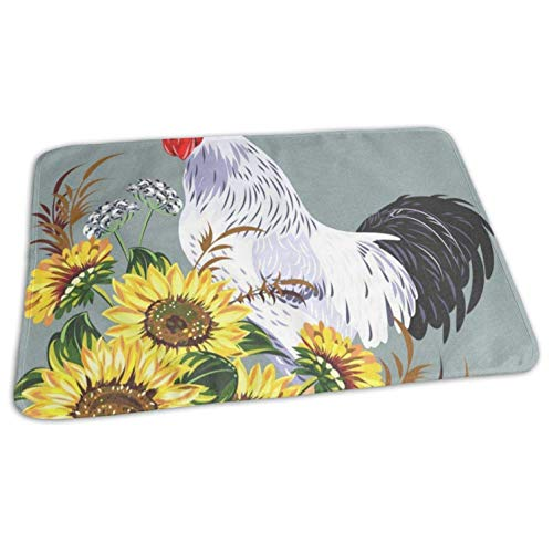 Changing Pad Cock in A Thicket of Sunflowers Baby Incontinence Pad Mat Fabulous Girls Baby Mattress Sheet Home Bed Play Stroller Crib Car 19.7x27.5