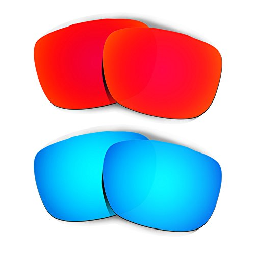 Hkuco Mens Replacement Lenses For Oakley TwoFace Sunglasses Red/Blue - Faces Oval With People