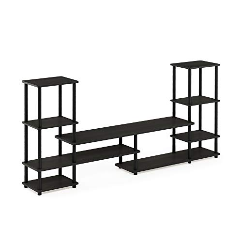 Furinno 14146EX/BK Grand Entertainment Center, Espresso/Black, Espresso/Black