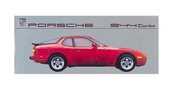 Amazon.com: 1987 Porsche 944 Turbo Color Brochure: Entertainment Collectibles
