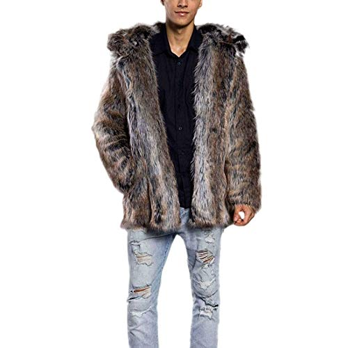 Down Men's fashion Braun Hood Coat Men's Outerwear Laisla Long Jackets Winter Winter Boy Fur Ntel Jacket Quilted Sleeve Jacket Quilted Warm with Clásico 2 pxaCF