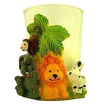 Lunaura Party Keepsake - Set of 12 Safari Animals Candle Set Favors
