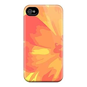 For Iphone 4/4s Fashion Design Orange And Yellow Flower Case-fuyvKld2748dCLxa