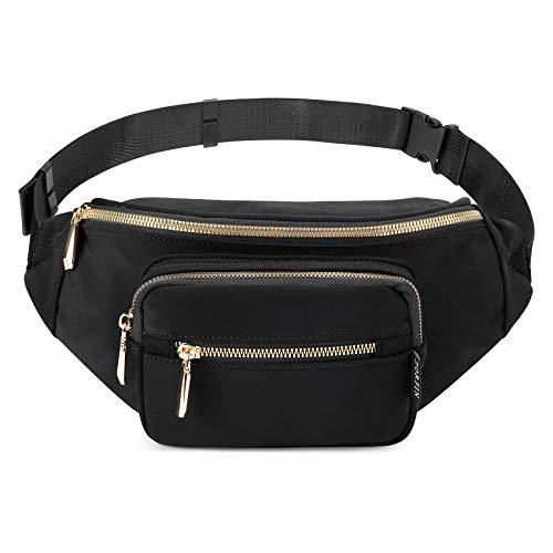ZORFIN Fanny Pack Nylon Water Resistant Waist Bag Pack for Women