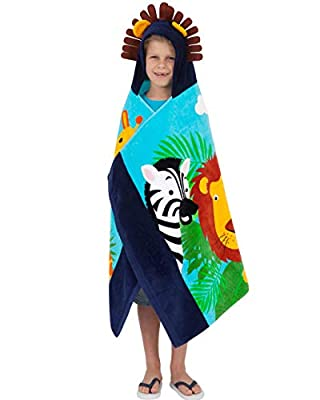 Yayme! Hooded Towel | Cotton Robe Perfect for a Gift for Kids and Toddlers | Fun Kids' Accessories Toddler Towels with a Hood or Bathrobe Used After a Bath or Shower | Poncho with Hood