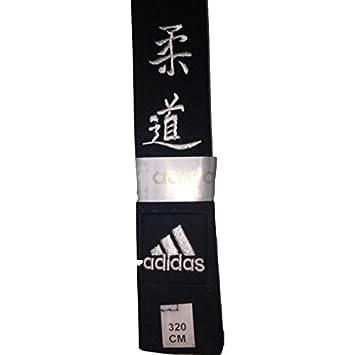 bf0745f084d2 Adidas - Ceinture élite Noire brodée Judo  Amazon.fr  Sports et Loisirs