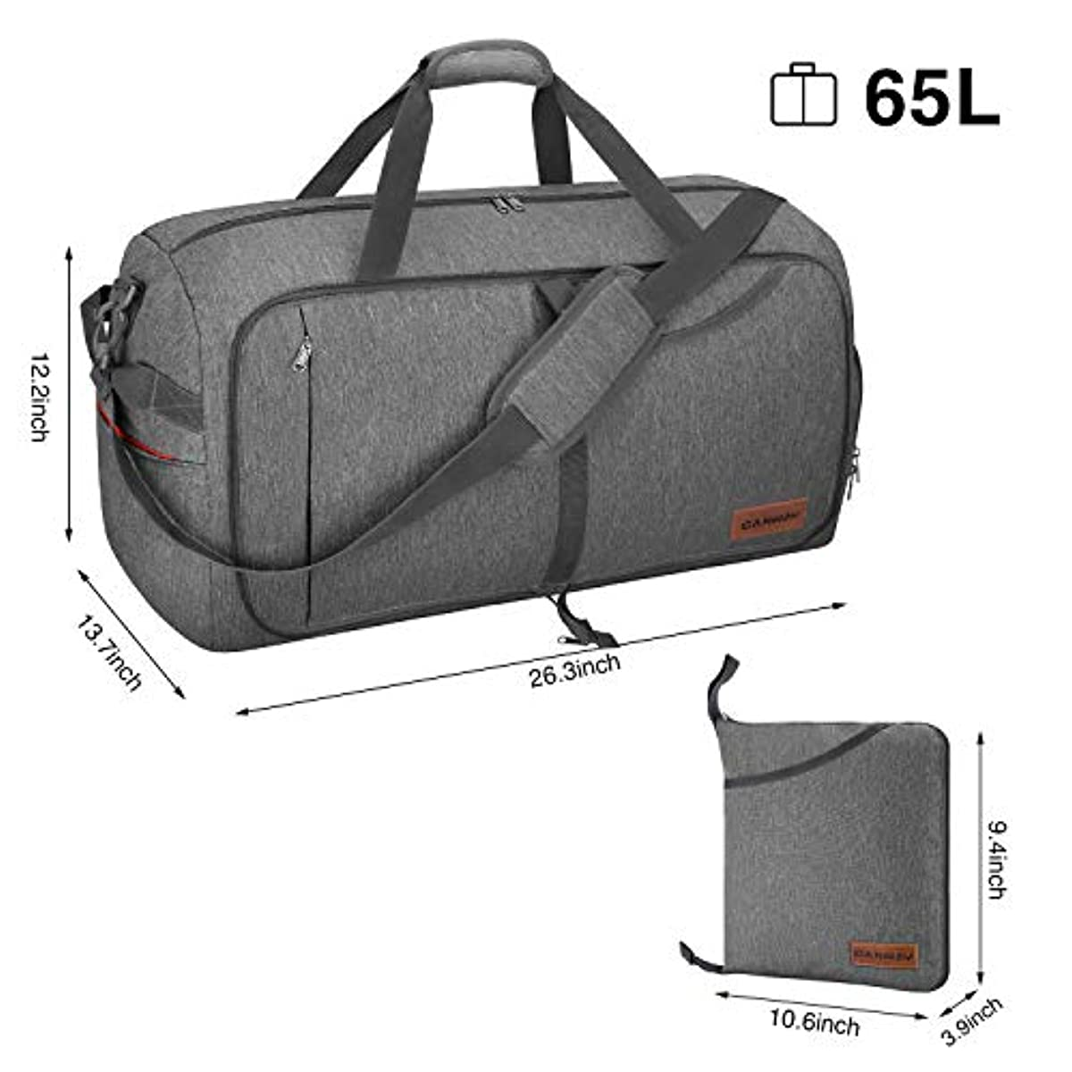 Canway 65L Travel Duffel Bag 3314fecd7935a
