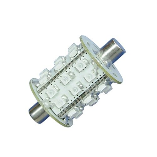 LEDwholesalers Barrel Aquasignal 43mm Festoon with Flat Ends 30xSMD3528 LED 10-30VDC, Red 1448RD