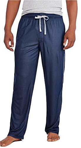 Lounge Bottom - HANES Mens Performance Sleep Lounge Pant, Navy, Light Grey 40061-Medium