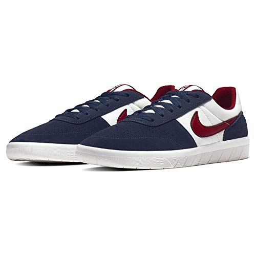 Nike SB Team Classic Men's Skateboarding Shoes - AH3360 (9 M US, Obsidian/Team Red-Summit White)