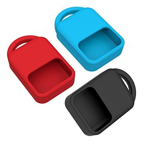 Case for Dash Micro Mini MicroSD Reader, pack of 3: Black/Red/Blue