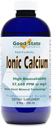 Good State Liquid Ionic Calcium (96 servings at 144 mg elemental, plus 2 mg fulvic acid - 8 fl oz)