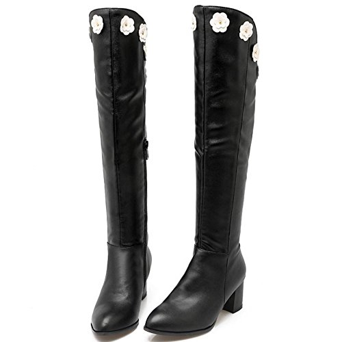 Boots With Zipper Taoffen Black Women's Xq5TYv