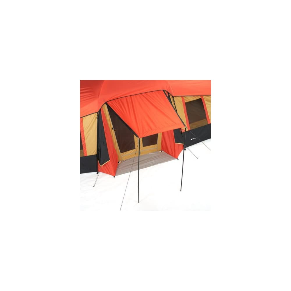 9322a2e6ee Ozark WMT922.2A Trail 10-Person 3-Room Vacation Tent Fits 3 Queen Air  Mattresses With Built-In Mud Mat