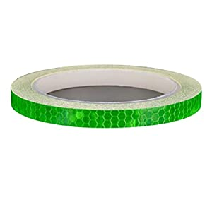 Witspace Bicycle Reflective Stickers Motorcycle Reflector Security Wheel Rim Decal Tape (Green)