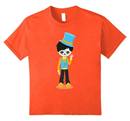 Kids Little Boy Sugar Skull costume Mexico Dia de los Muertos 8 Orange