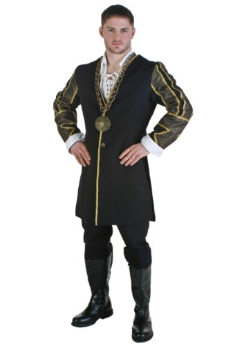 Plus Size King Henry VIII Costume 2X Black