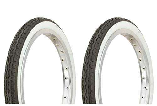 "Lowrider Tire Set. 2 Tires. Two Tires Duro 16"" x 1.75"" Black/White Side Wall HF-160A. Bicycle Tires, Bike Tires, Kids Bike Tires, Bike Tires, BMX Bike Tires"