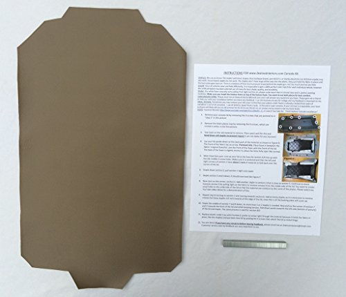 Ford Explorer armrest console replacement cover with staples - Medium Prairie Tan (1997-05)