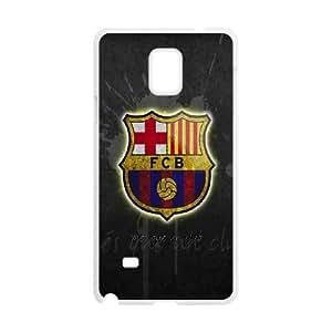 FC Barcelona H7O2Hm Funda Samsung Galaxy Note 4 caja del teléfono celular funda blanca de protección L5Z7TB funda Caso modificado para requisitos particulares del teléfono