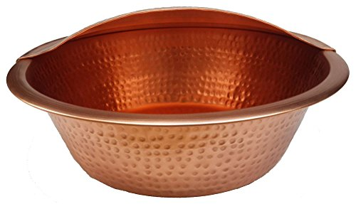 Egypr gift shops Polished Copper Massage Therapy Pedicure Bowl + Foot Rest by Egypt Gift Shops