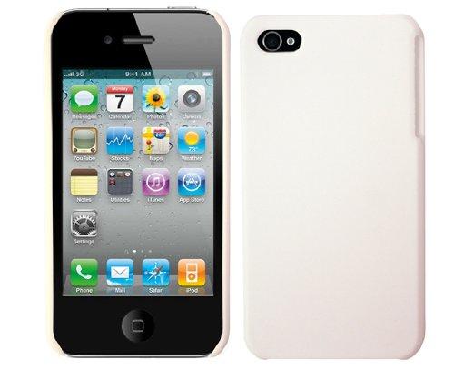 KSIX B0917CAR03 Rubber Effect Cover für Apple iPhone 4 weiß