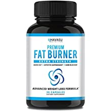 Extra Strength Weight Loss Pills and Appetite Suppressant - Carb Blocker with Garcinia Cambogia, CLA, Green Tea Extract, Apple Cider Vinegar, White Kidney Beans – Fat Burner & Metabolism Boost