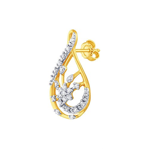 Giantti Diamant Mode Femme Boucles d'oreilles à tige (0.4074 CT, VS Clarté, Gh-colour)
