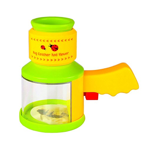 Kids Backyard Exploration Science Bug Catchers and Viewer Microscope, Insect Magnifier