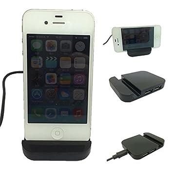 XIZHES sostenedor sostenedores negro móvil con hub usb para iphone4 / 4s / 5 / 5s / 5c / 6 y otros: Amazon.es: Electrónica