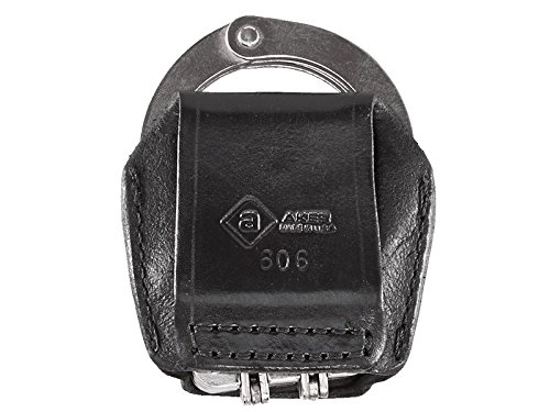 Peerless Hinged Handcuffs - Aker Leather Aker - 606 Slim Open Hinged Handcuff Case