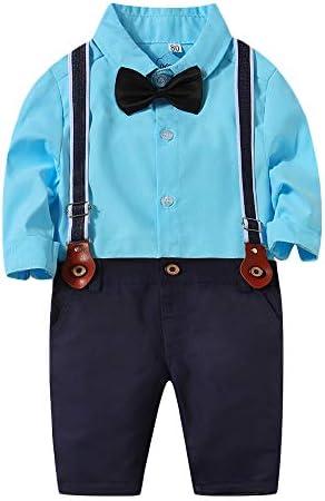 フォーマル キッズスーツ 男の子 子供 洋服 紳士服 正装 タキシード 子供服 ワイシャツ 長袖 ロングパンツ サスペンダー 男児 ボーイズ おしゃれ 七五三 結婚式 入学式 初節句 お宮参り 蝶ネクタイ付き 4点セット