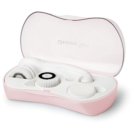 My Life My Shop Ultimate Spin Daily Cleansing Facial Brush System - Water Resistant - Micro Massage Action - Pink