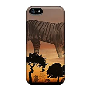 Cute High Quality Iphone 5/5s Tiger Sunset #2 Case