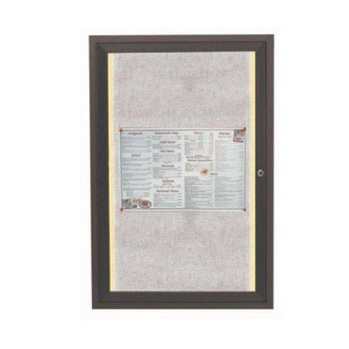 Aarco Bulletin Board 18'' w X 24'' h Lighted Enclosed Vinyl