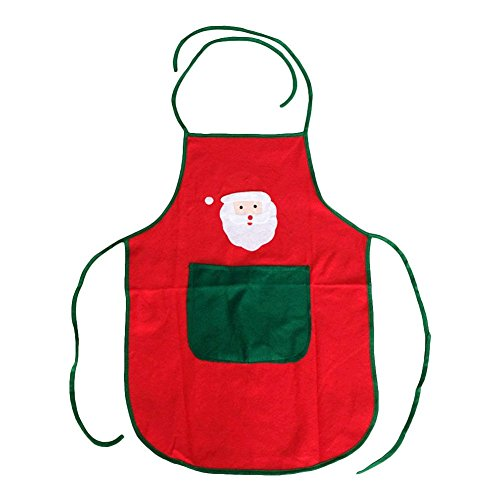King Sale For Burger Costume (MONOMONO-Santa Claus Elf Pattern Print Apron Women's Cute Kitchen Xmas Decoration)