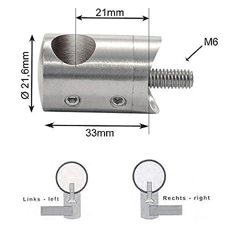 Querstabhalter Traversenhalter Reling Rohrhalter Edelstahl VA 42,2mm 10,2mm