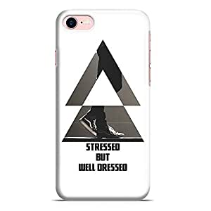 Loud Universe iPhone 8 Case Stressed But Well Dressed Gentle Mens Phone Case Low Profile Light Weight Wrap Around iPhone 8 Cover