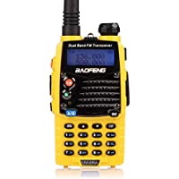 Baofeng UV-5RA Ham Two Way Radio 136-174/400-480 MHz Dual-Band DTMF CTCSS DCS FM 5W Amateur WalkieTalkie Transceiver *Yellow*