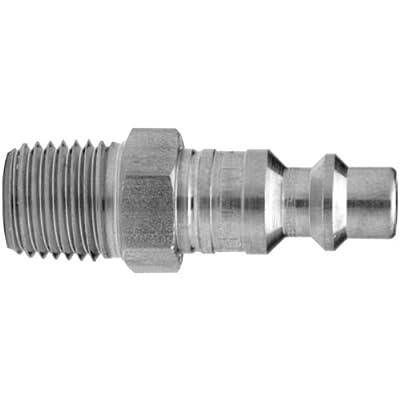 "Dixon Valve DCP1706 Steel Air Chief Industrial Interchange Air Fitting, Quick-Connect Plug, 1/2"" Coupler x 3/4"" NPT Male Thread, 150 CFM Flow Rating"