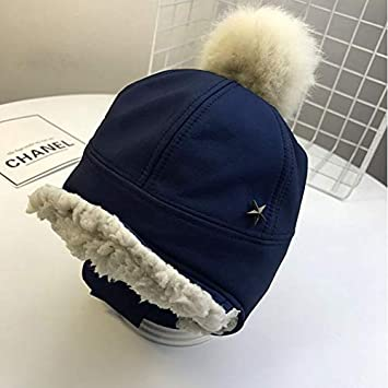 7e6c45764ba Image Unavailable. Image not available for. Color  VT BigHome Baby s Bomber  Hat Faux Fur Pompoms Plush Star Cap Winter Warm Snow Casual