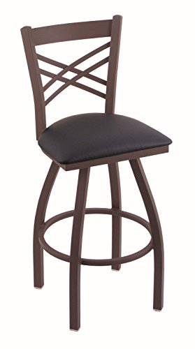 41NNo6FR5ML - Holland-Bar-Stool-Co-820-Catalina-25-Counter-Stool-with-Bronze-Finish-and-Swivel-Seat-Allante-Dark-Blue