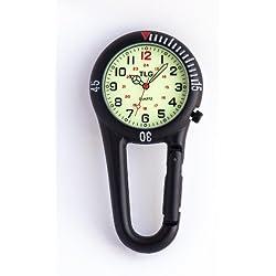 Paramedic Nurses Doctors Nite Glow Luminous Clip on Fob Watch