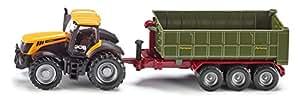 Siku 1855 - Tractor JCB miniatura con remolque (escala 1:87)