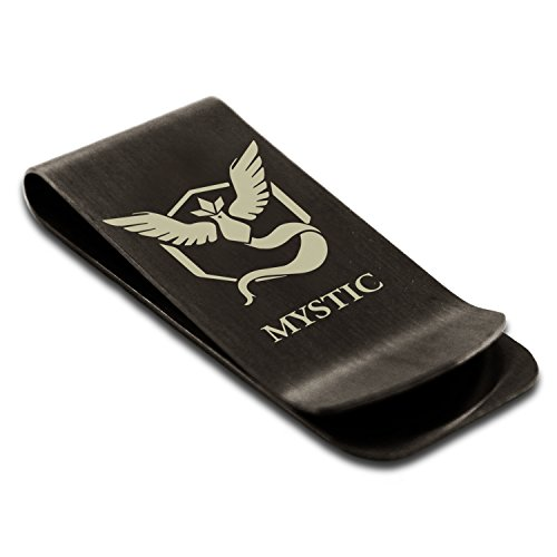 Black Clip Money Mystic Holder Pokémon Articuno Credit Card Team Engraved Tioneer Stainless Steel qU0WRq78
