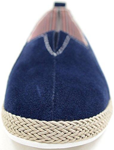 Été vacances En casual À Véritable Cuir Daim Enfiler Blueberry Chaussures Femme Mesdames pour 8wqEzz