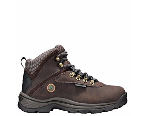 TimberlanD Women's White LeDge MiD Ankle Boot,Dark Brown,8.5 M US